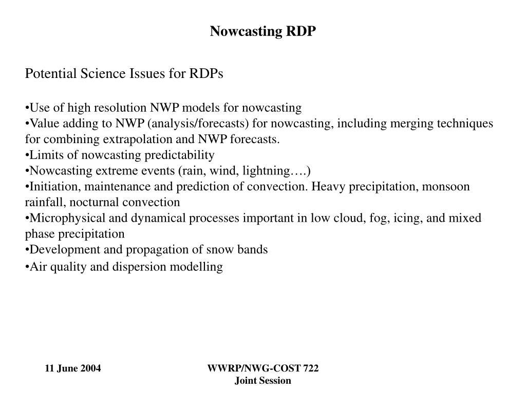 Nowcasting RDP
