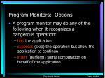 program monitors options