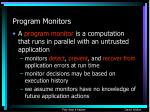 program monitors