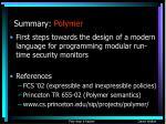 summary polymer