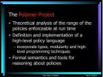 the polymer project