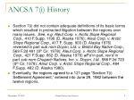 ancsa 7 i history