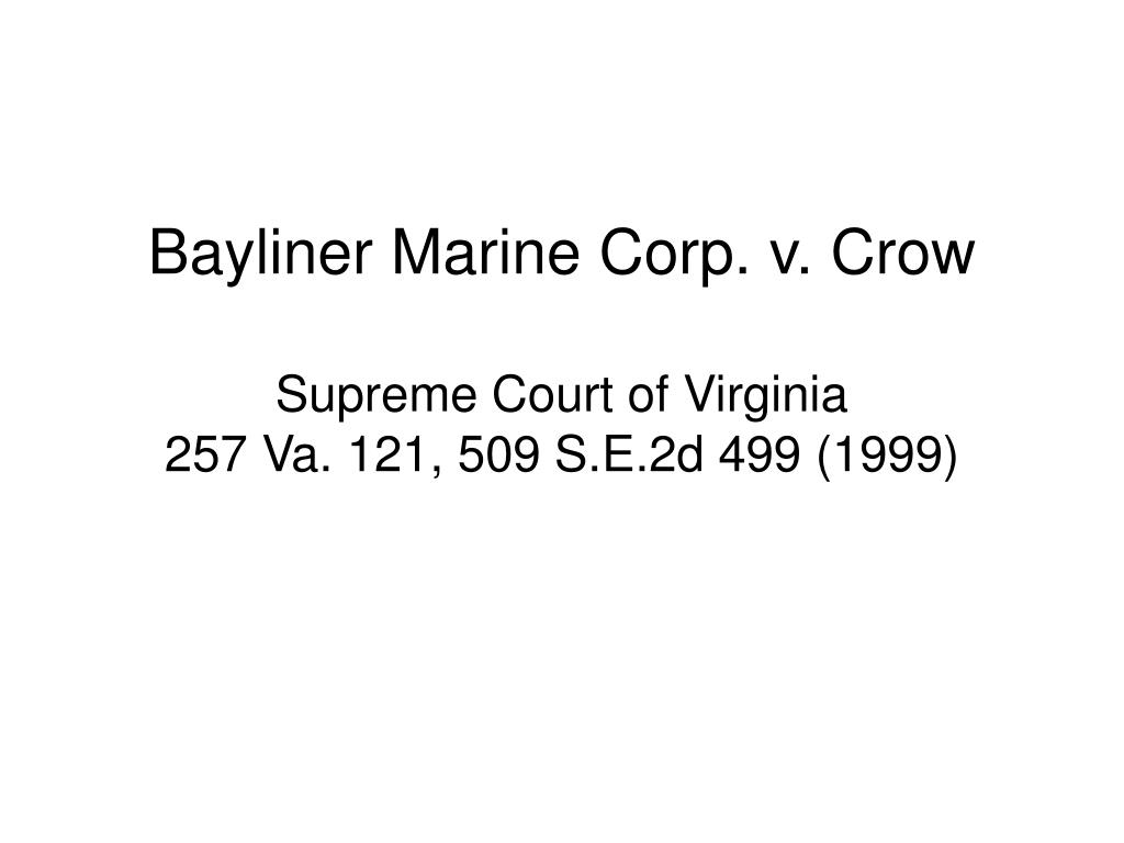 Bayliner Marine Corp. v. Crow