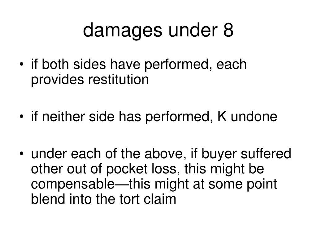 damages under 8