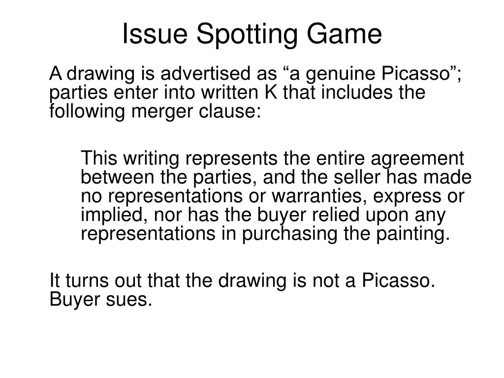 Issue Spotting Game