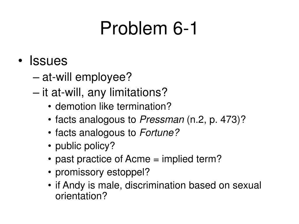 Problem 6-1