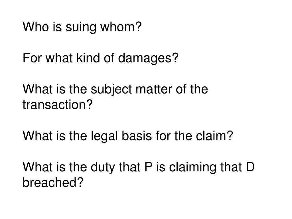 Who is suing whom?