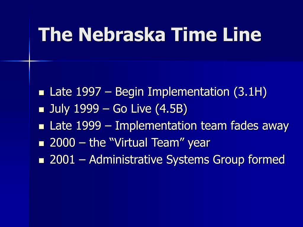 The Nebraska Time Line