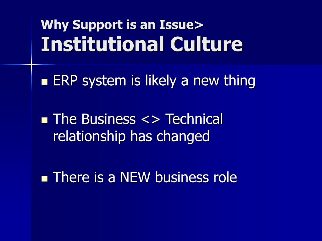 Why Support is an Issue>