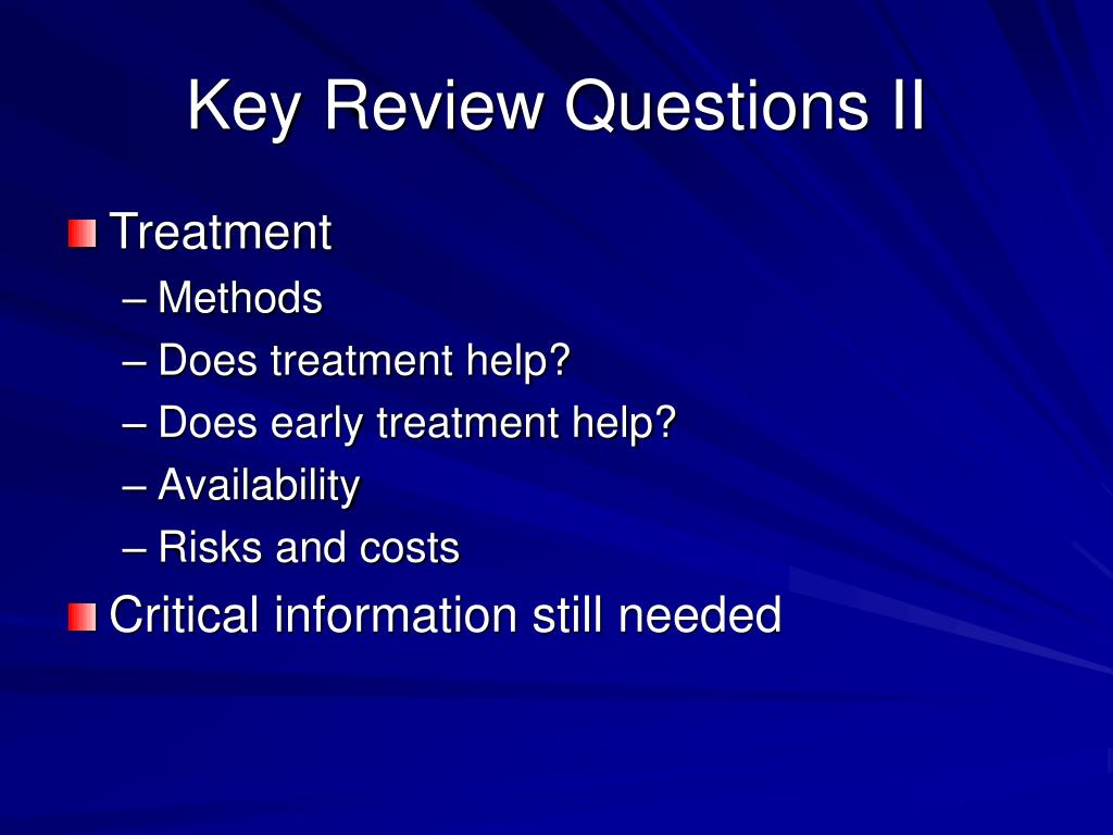 Key Review Questions II