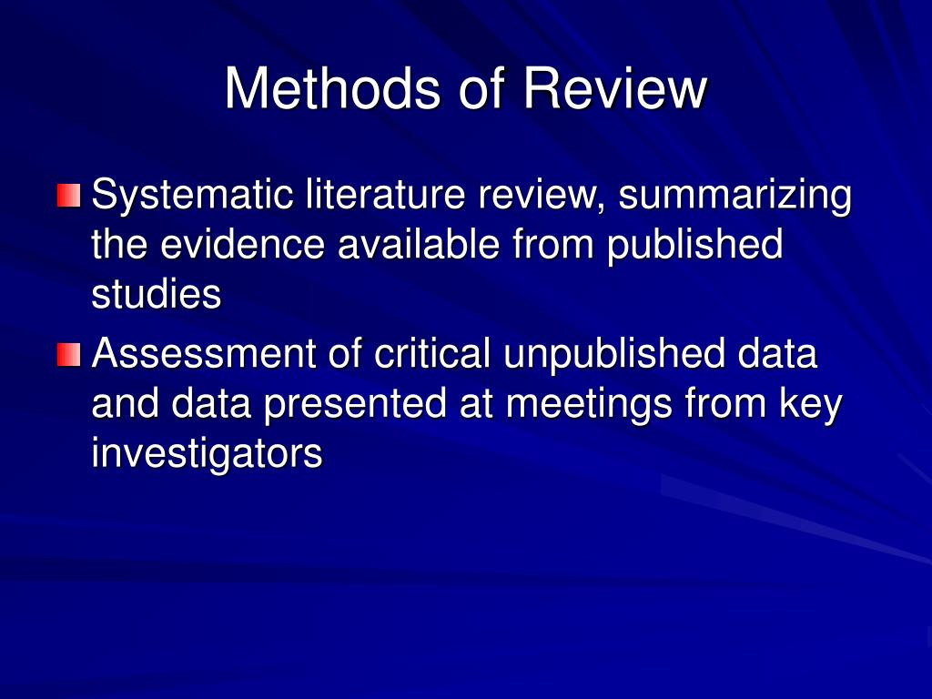 Methods of Review