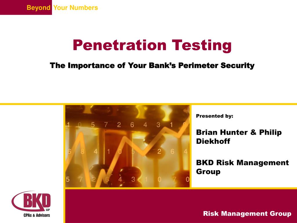 penetration testing the importance of your bank s perimeter security l.