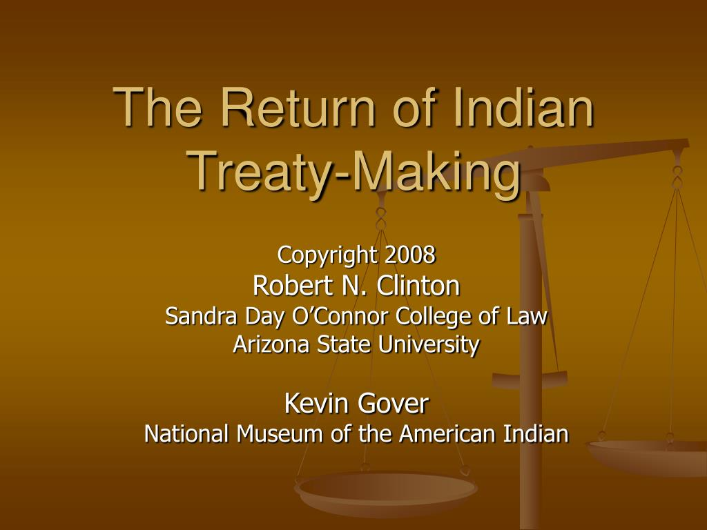 the return of indian treaty making l.