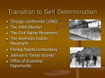 transition to self determination