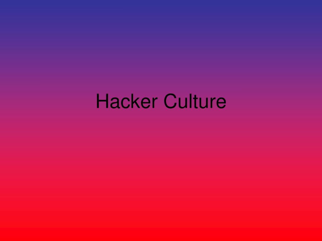 hacker culture l.