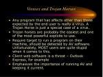 viruses and trojan horses