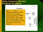 data control router control de datos
