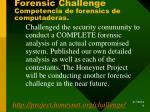 forensic challenge competencia de forensics de computadoras