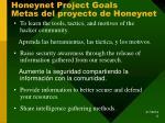 honeynet project goals metas del proyecto de honeynet