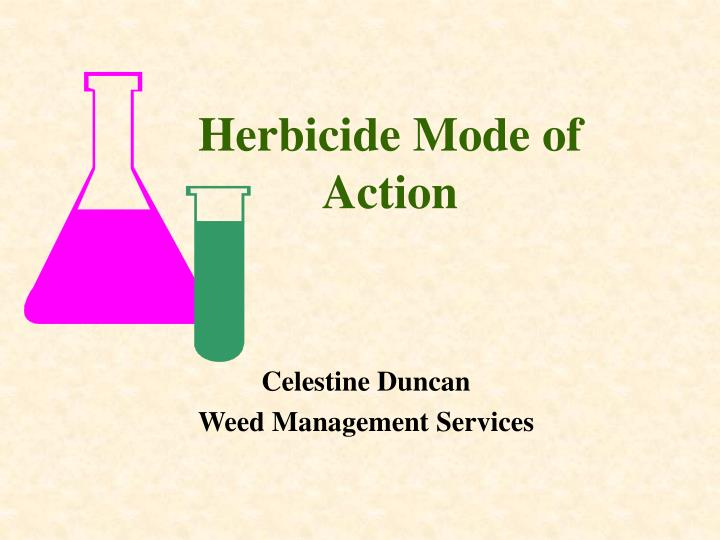 herbicide mode of action n.