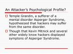 an attacker s psychological profile
