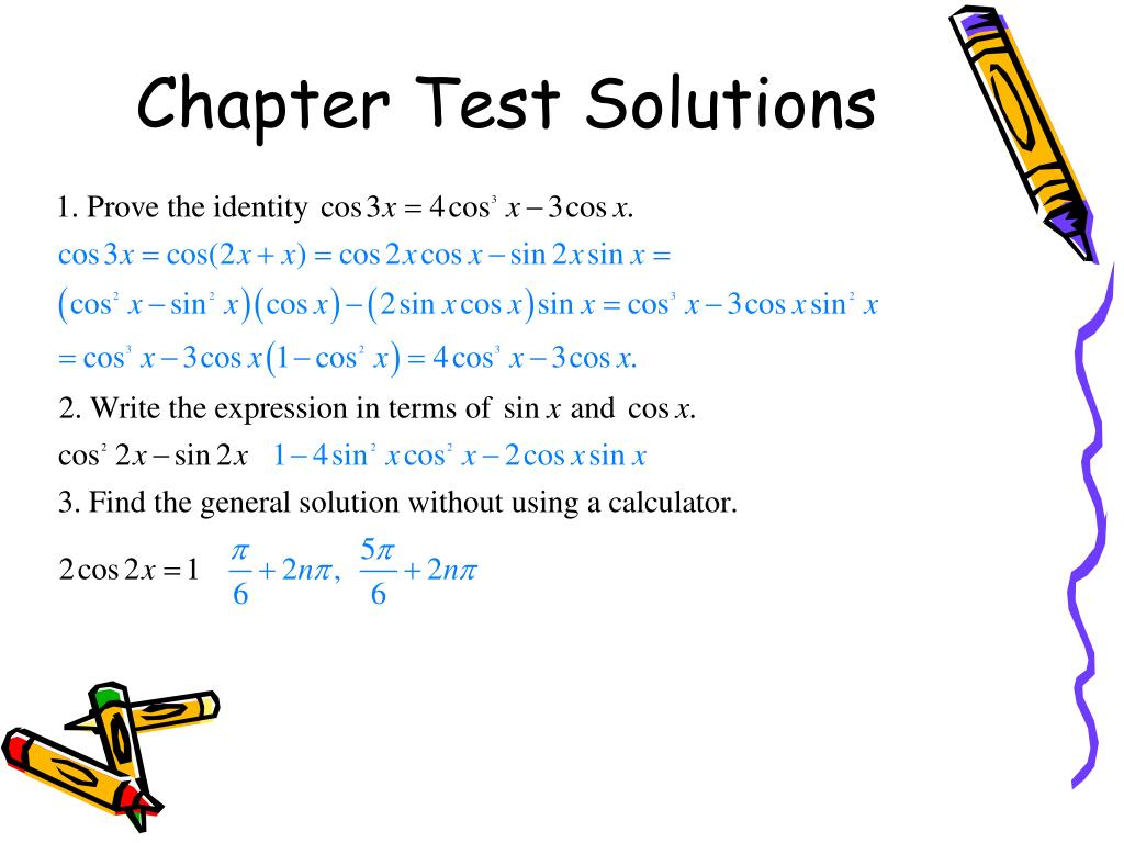 Chapter Test Solutions