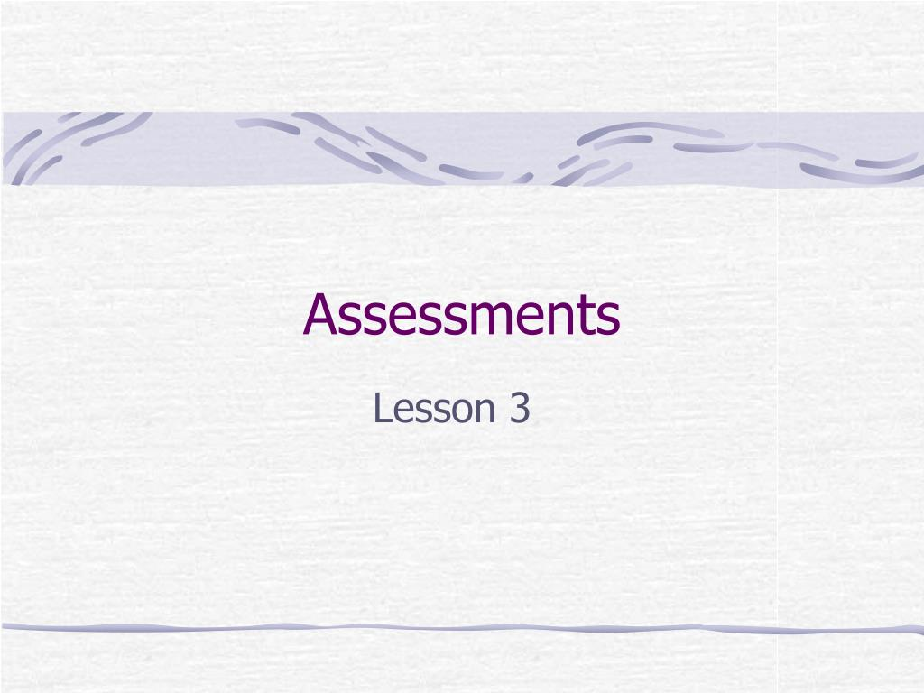 assessments l.