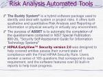 risk analysis automated tools