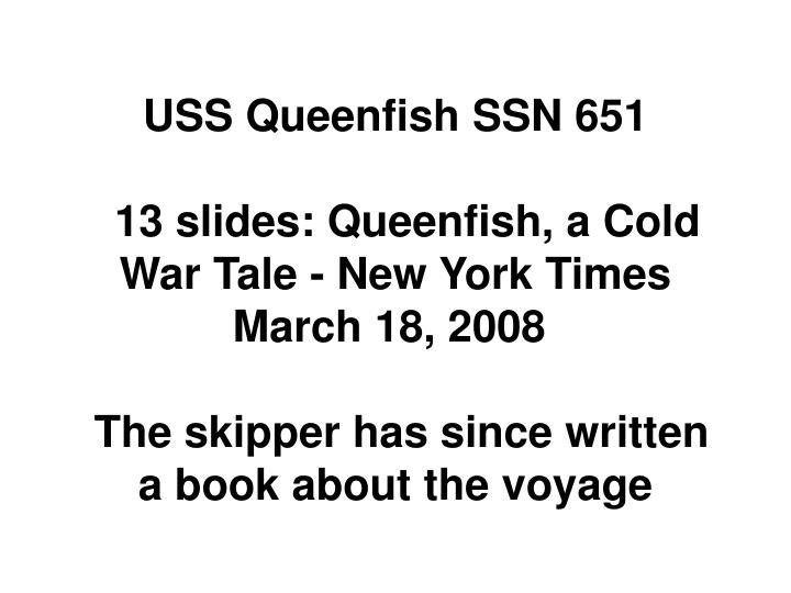 USS Queenfish SSN 651