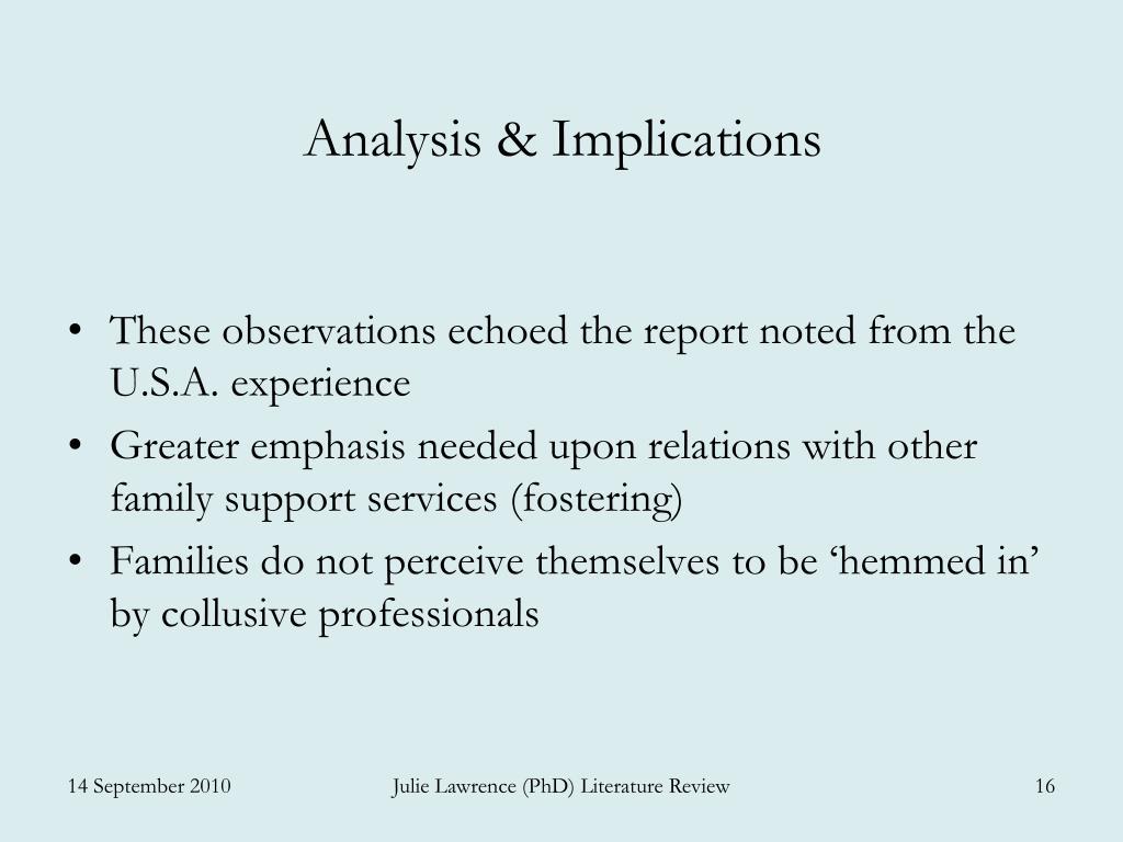 Analysis & Implications