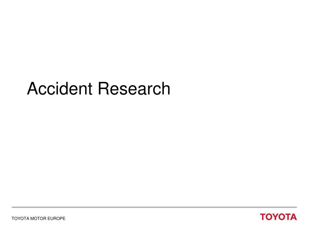 Accident Research