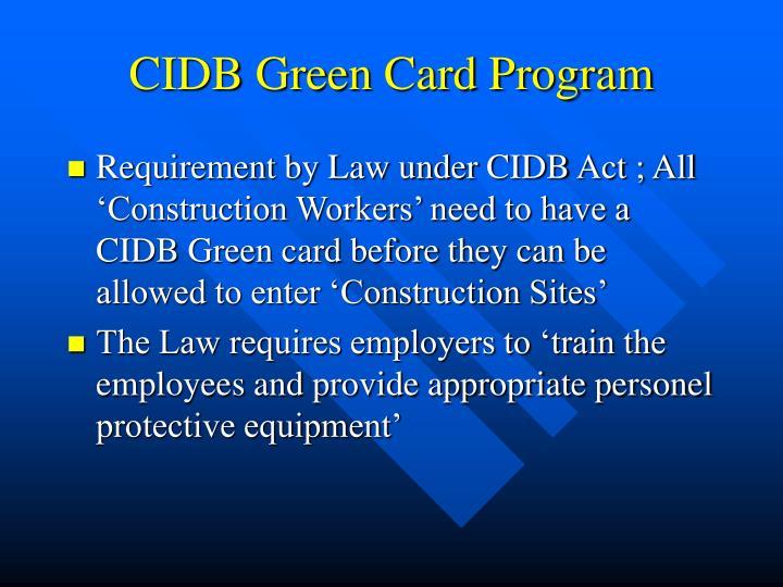 Cidb green card program2