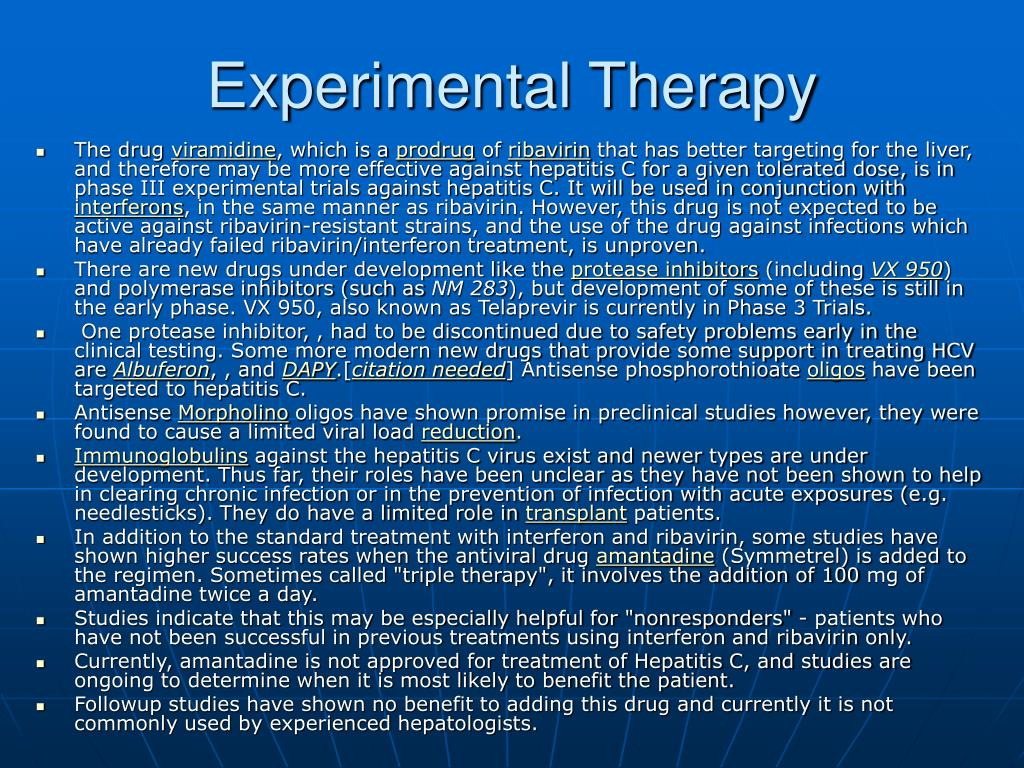 Experimental Therapy