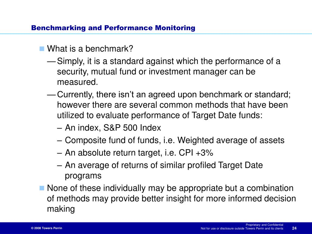 Benchmarking and Performance Monitoring