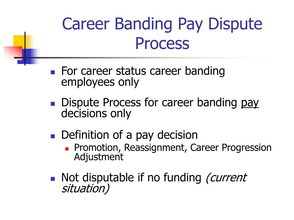 Career Banding Pay Dispute Process