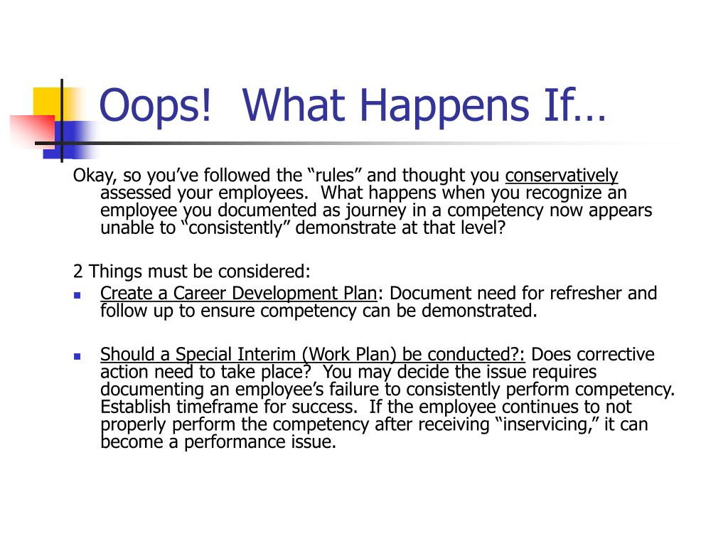 Oops!  What Happens If…