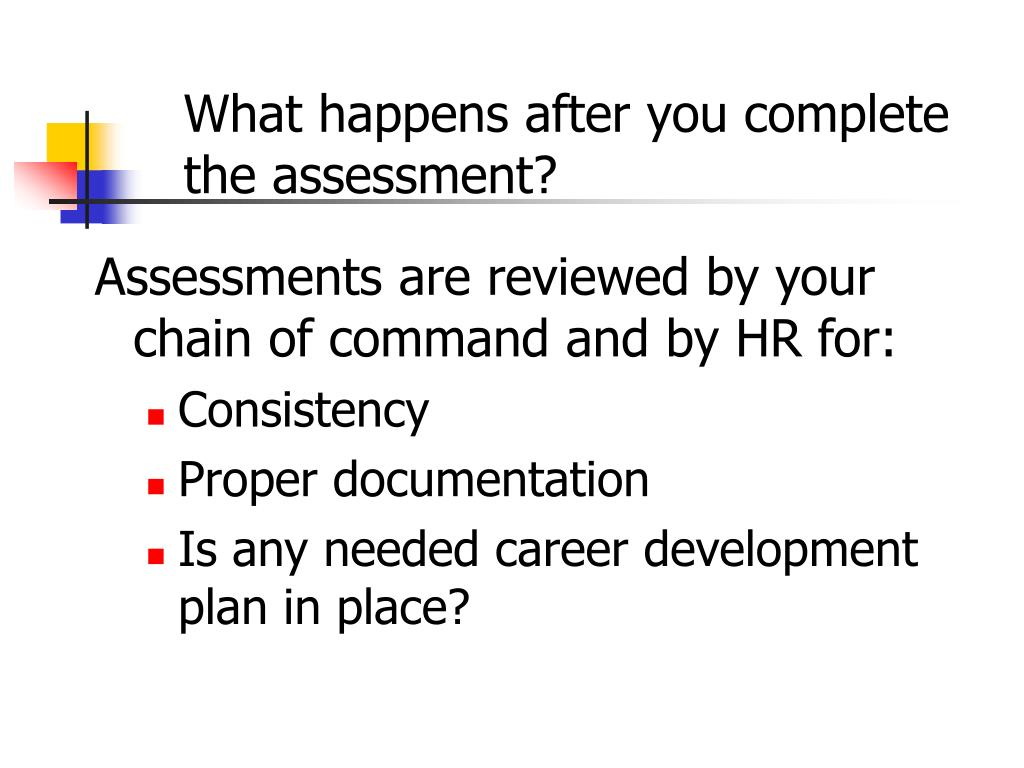 What happens after you complete the assessment?