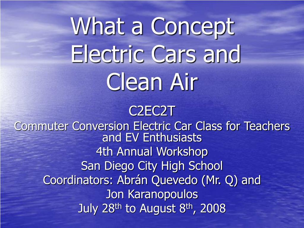 what a concept electric cars and clean air l.