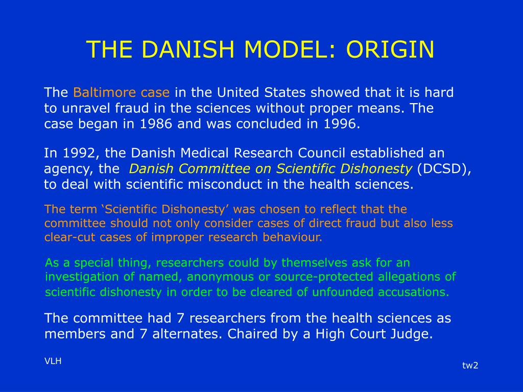 THE DANISH MODEL: ORIGIN