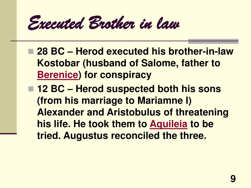 Executed Brother in law