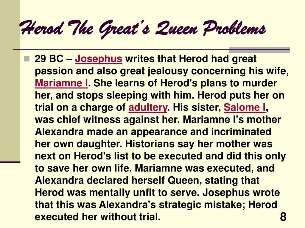 Herod The Great's Queen Problems