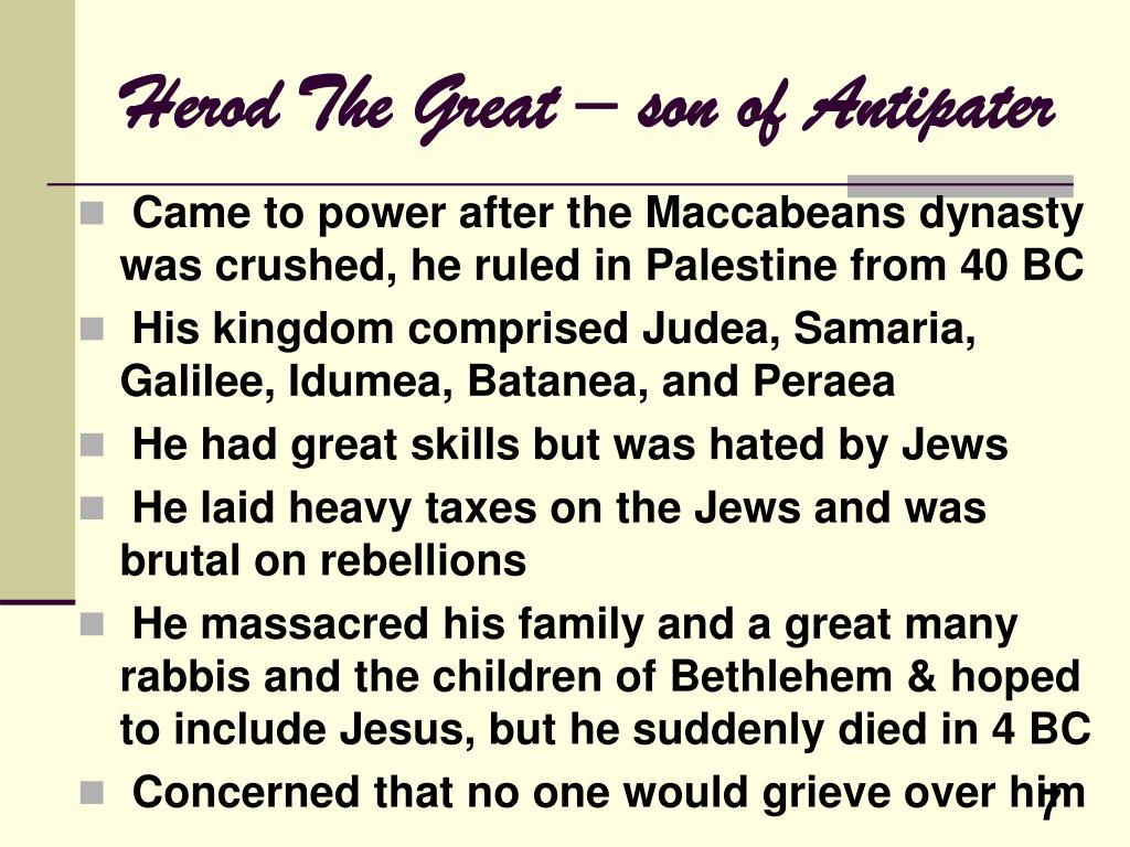 Herod The Great – son of Antipater