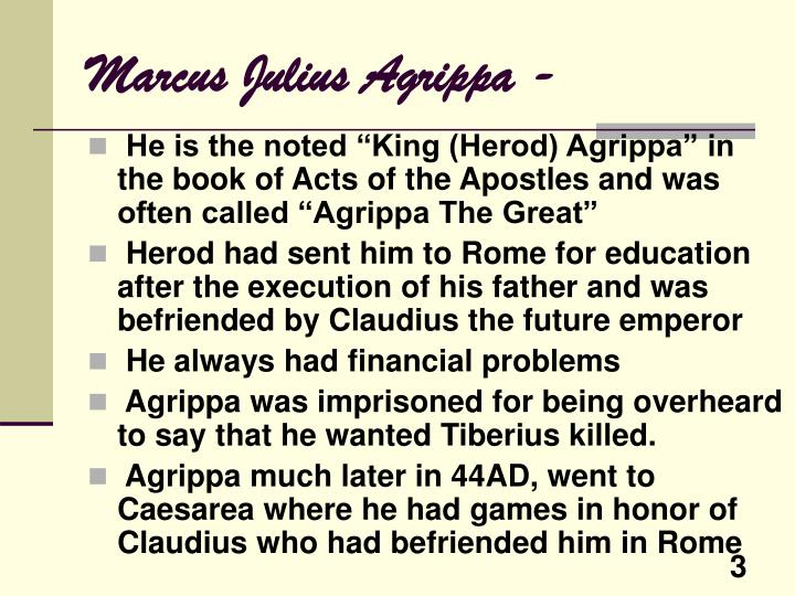 Marcus julius agrippa