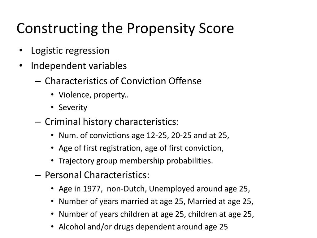 Constructing the Propensity Score