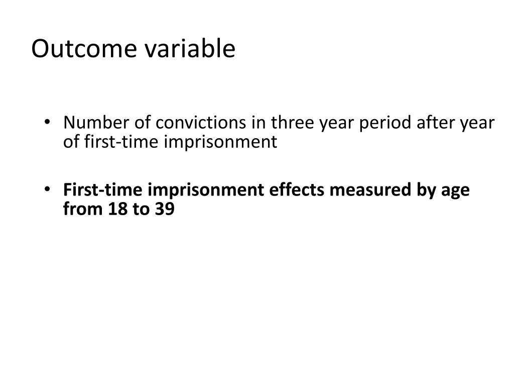 Outcome variable