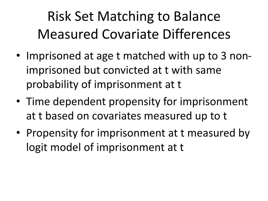 Risk Set Matching to Balance Measured Covariate Differences