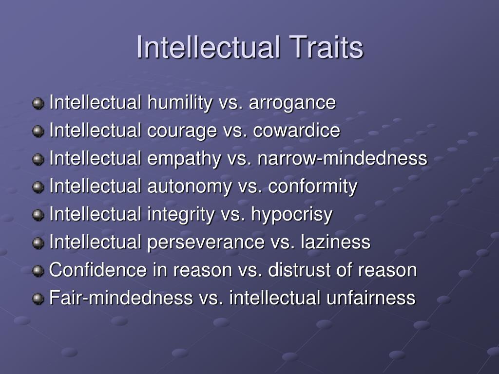 Intellectual Traits