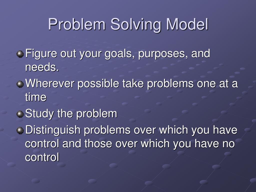 Problem Solving Model