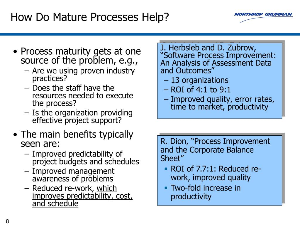 Process maturity gets at one source of the problem, e.g.,