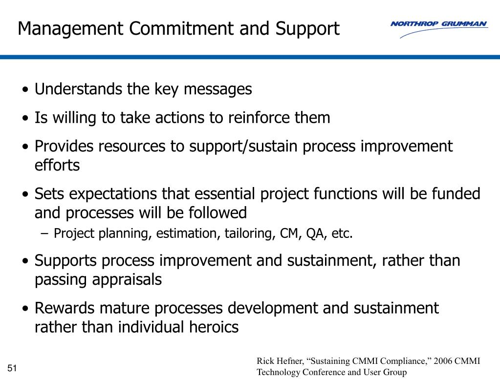 Management Commitment and Support